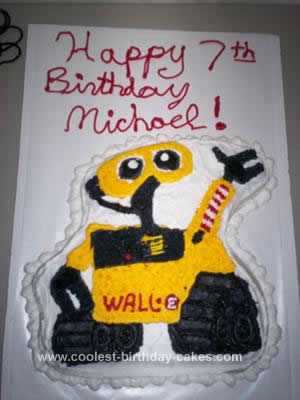 Homemade Wall E  Birthday Cake Design