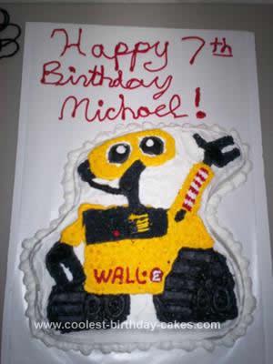 Homemade Wall E  Birthday Cake Design