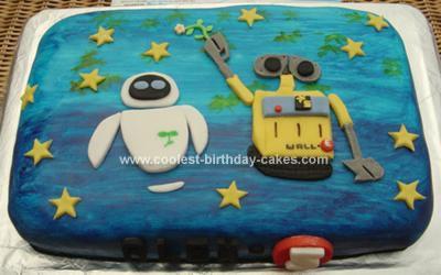 Homemade Wall-E Cake