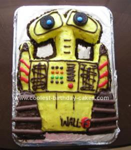 Homemade Wall E Cake