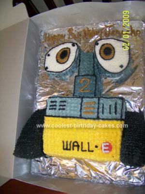 Homemade Wall.E Cake