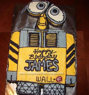 Homemade Wall-E Cake