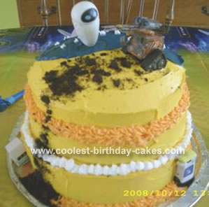 Wall E and Eve Cake