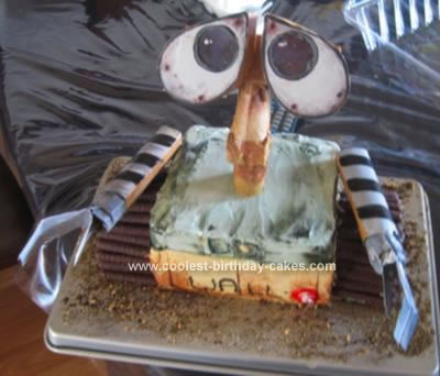 Homemade Wall-E Birthday Cake