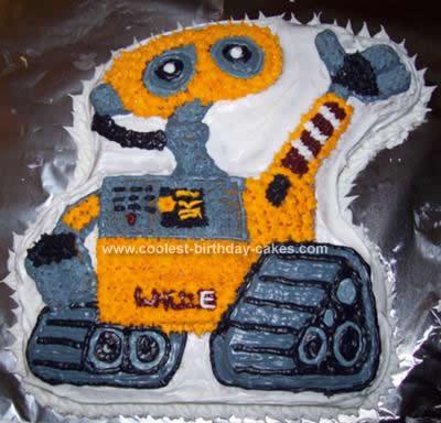 Homemade Wall-E Birthday Cake