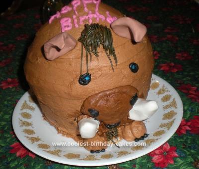 Homemade  Warthog Cake
