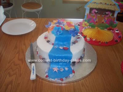 Homemade Waterfall Cake