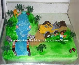 Jungle Waterfall Cake