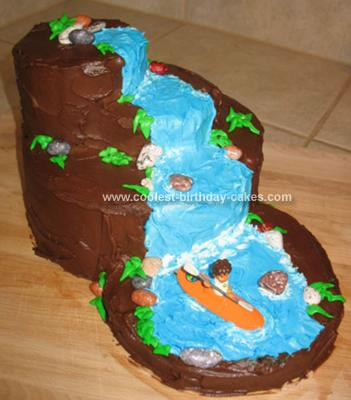 Homemade Waterfall Cake