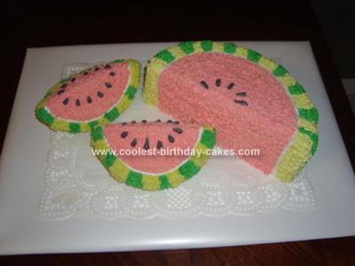 Homemade Watermelon Cake