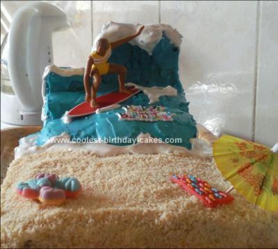 Homemade Wave Birthday Cake