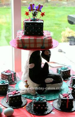Homemade Webkinz Whale Cake