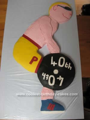 Homemade Weight Lifting Birthday Cake
