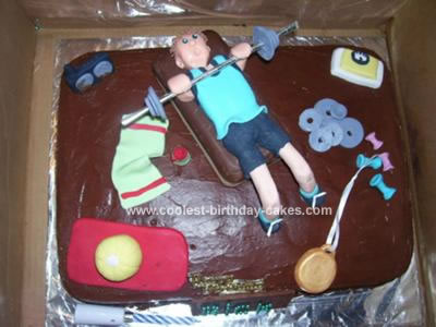 Homemade Weightlifitng Cake