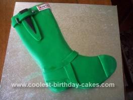 Homemade Wellington Boot Birthday Cake Idea