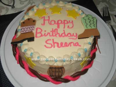 Homemade Western Birthday Cake