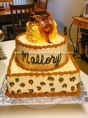 Sensational Coolest Western Saddle Cake Birthday Cards Printable Benkemecafe Filternl