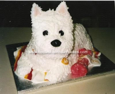Homemade Westie Dog Cake