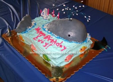 Save the Whales Birthday Cake