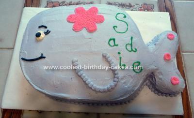 Homemade Whale Cake Design