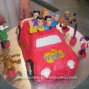 Homemade Wiggle Car Birthday Cake Idea