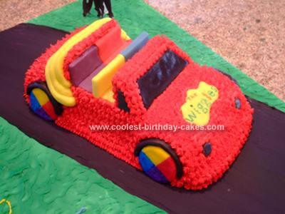 Homemade Wiggles Big Red Car Cake