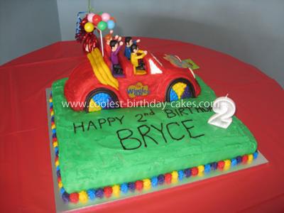 Coolest Wiggles Big Red Car  Cake