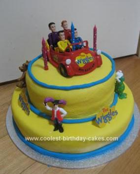 Homemade Wiggles Birthday Cake