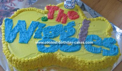 Homemade Wiggles Logo Cake