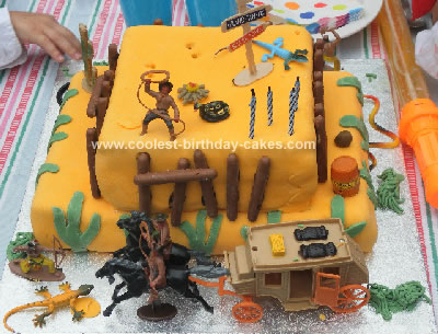 Homemade Wild West Birthday Cake