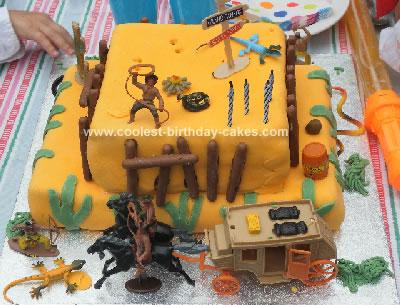 Homemade Wild West Birthday Cake