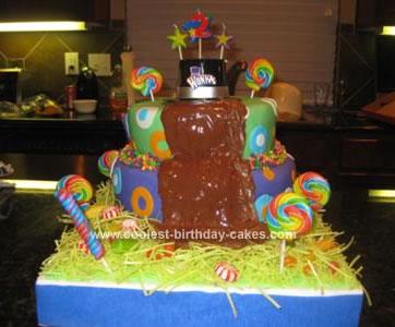 Homemade Willy Wonka Birthday Cake