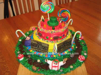 Homemade Willy Wonka Cast Party Cake