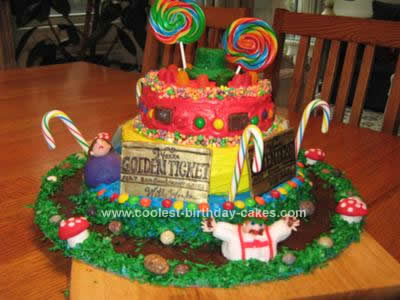 Homemade Homemade Willy Wonka Cast Party Cake