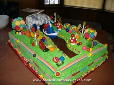 Homemade Willy Wonka Pure Imagination Birthday Cake