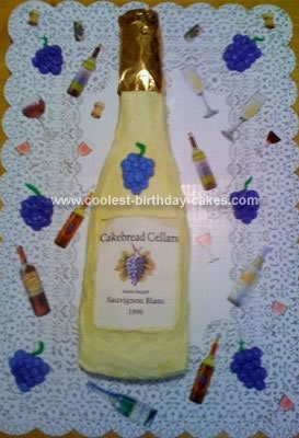 Homemade Wine Bottle Cake