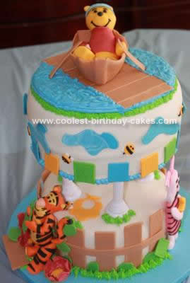 Homemade Winnie Baby Shower Cake