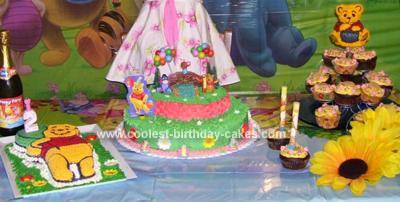Homemade  Winnie Pooh Birthday Cake