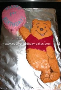Homemade Winnie the Pooh 1st Birthday Cake