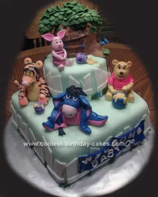 Homemade Winnie the Pooh and Friends Cake
