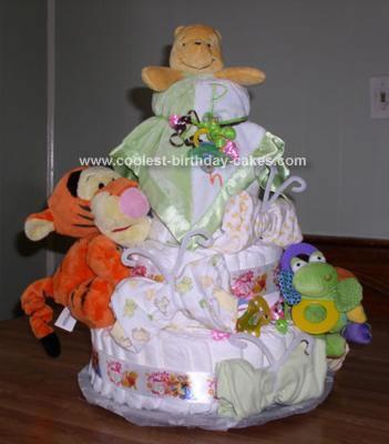 Homemade Winnie the Pooh Baby Shower Cake
