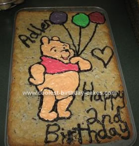 Homemade  Winnie The Pooh Birthday Cake