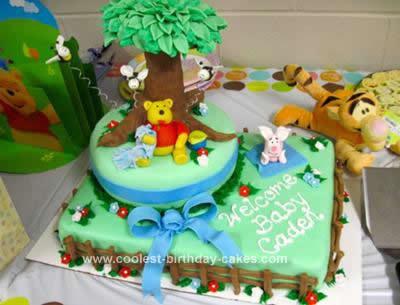 Superb Coolest Winnie The Pooh Birthday Cake Design Funny Birthday Cards Online Necthendildamsfinfo