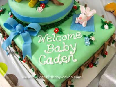 Homemade Winnie the Pooh Birthday Cake Design