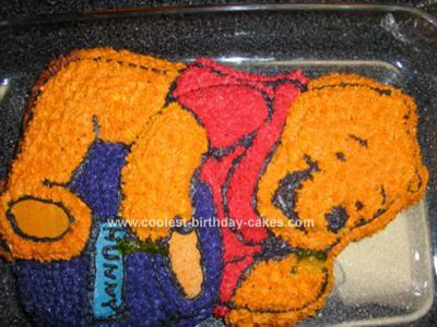 Homemade Winnie The Pooh Cake