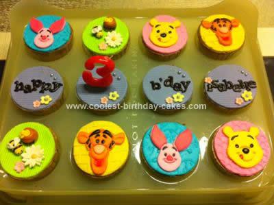 Homemade Winnie the Pooh Cupcakes