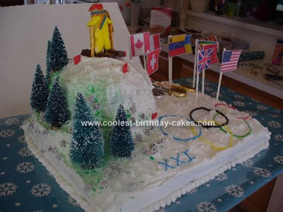 Homemade Winter Olympics Themed Cake