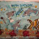 Homemade Winter the Dolphin Birthday Cake