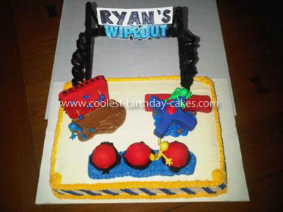 Coolest Wipeout Obstacles Cake