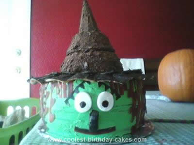 Homemade Witch Birthday Cake